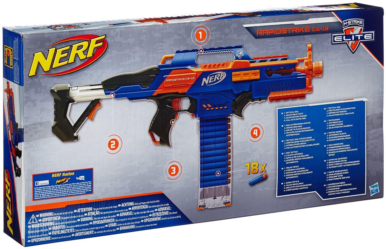 Nerf Strike Elite Rapidstrike CS-18 Rückseite der Verpackung